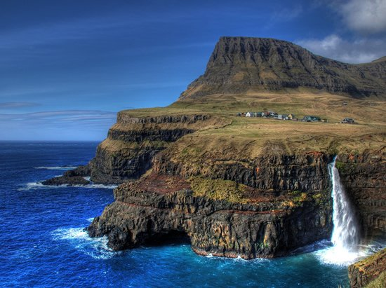 Waterfall in Gasadalur - Faroe Islands