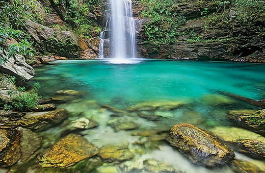 Cachoeira de Santa Barbara Waterfall