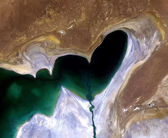 Heart-Shaped Aral Sea
