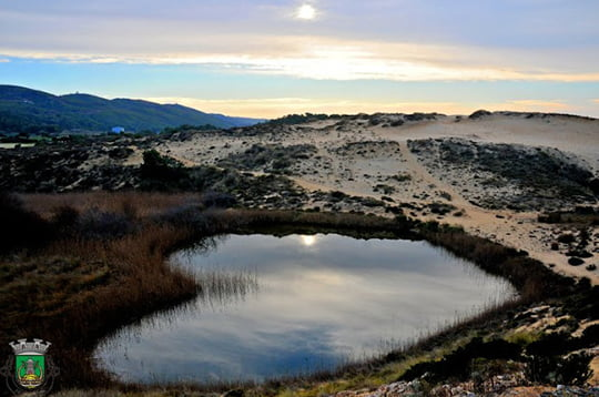 Heart-Shaped Lake - Dunas de Sao Giao - Portugal