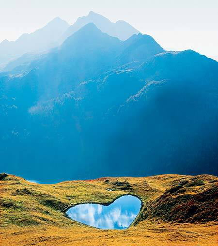 Heart-Shaped Lake -  Swiss Alps