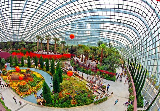 flower dome gardens by the bay conservatory - Garden By The Bay Flower